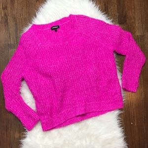Express Pink Thick Oversized Sweater